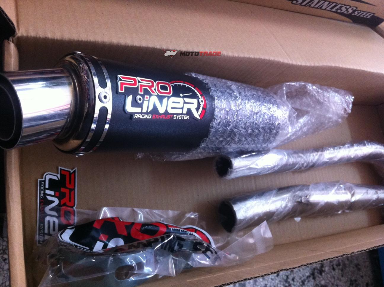 accesories : exhaust honda innova proliner sr(n) black